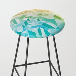 Colorful Geometric Pattern Saturated Rainbow Pattern Design (Red Pink Orange Yellow Green Blue) Bar Stool