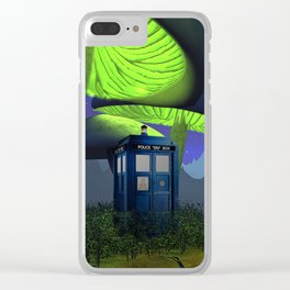 Tardis in the planet of alien Clear iPhone Case