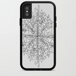 starburst line art - white iPhone Case