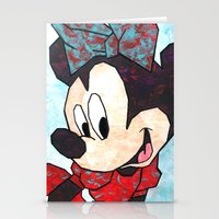 minnie mouse Stationery Cards featuring Minnie Mouse Fan Art by DanielleArt&Design