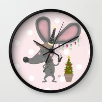 mouse Wall Clocks featuring mouse by Sucoco