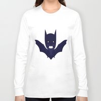 bat man Long Sleeve T-shirts featuring bat by Nir P