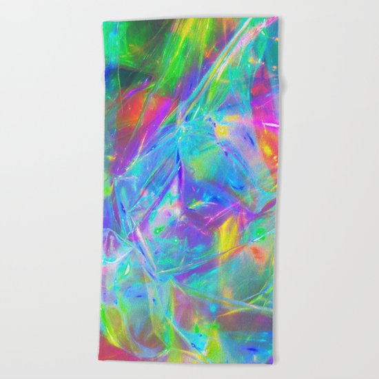 HighVisibilityRainCoat Beach Towel