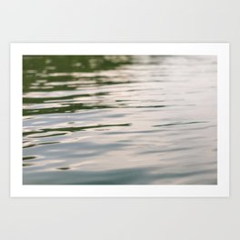 Floating down the river Art Print