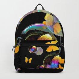 SURREAL GOLDEN YELLOW BUTTERFLIES  & SOAP BUBBLES Backpack
