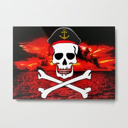 Pirate Skull Metal Print