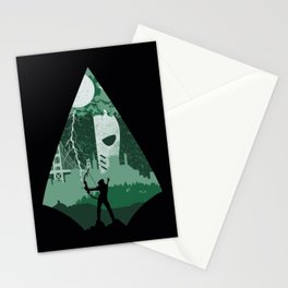 Arrow green Stationery Cards