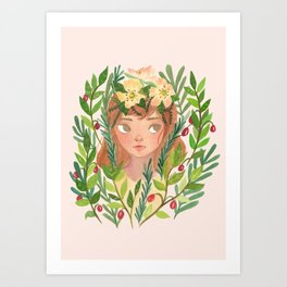 Herbs and Wildflower Nymph Art Print