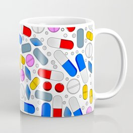 Pills Isolated On White Background Coffee Mug