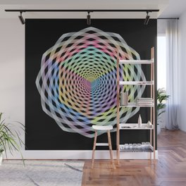 Hypercube Spiral Wall Mural