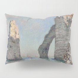 The Rock Needle and the Porte d'Aval by Claude Monet Pillow Sham