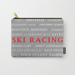 Ski Racing Light Grey Carry-All Pouch