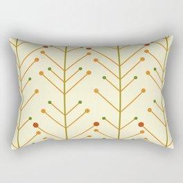 Mid Century Modern Nature Stems (Light) Rectangular Pillow