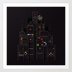 Remote City Art Print