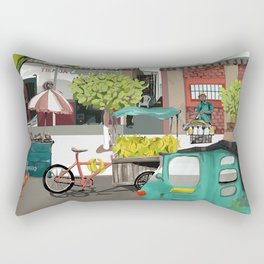 Barranquilla Streets of Colombia Rectangular Pillow