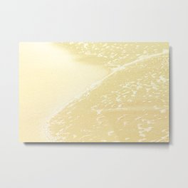 Kapalua Beach sparkling golden sand and seafoam Maui Hawaii Metal Print