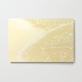 Kapalua Beach sparkling golden sand and seafoam Maui Hawaii Metal Print