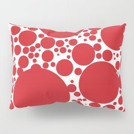 Red Polka Dot Pattern Pillow Sham