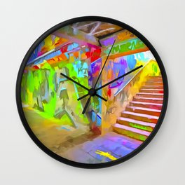 London Graffiti Pop Art Wall Clock