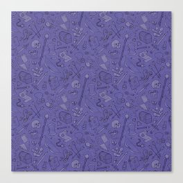 Inventory in Purple Canvas Print