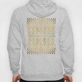 Norwegian Pattern – Gold on Navy Hoody