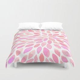 Watercolor brush strokes - pastel pink Duvet Cover