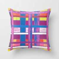 agnes Throw Pillows featuring Agnes Windyknickers by John Donlon