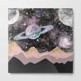 Space Mountains Metal Print