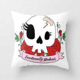 Emotionally Unstable Throw Pillow