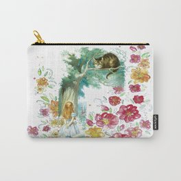 Floral Alice In Wonderland Carry-All Pouch