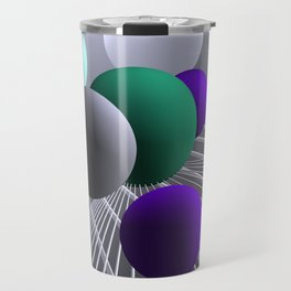 converging lines and balls -1- Travel Mug