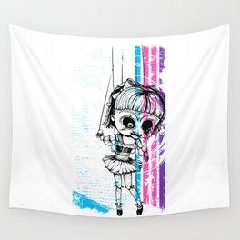 Deathly Chucky's Girl - Creepy Doll Wall Tapestry