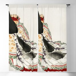 A lady in a kimono by Kōno Bairei Blackout Curtain