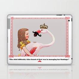 Alice and her Flamingo's mustache Laptop & iPad Skin