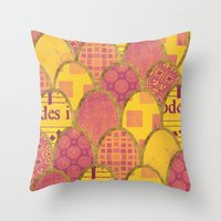 scales Throw Pillows featuring Scales by Sweet Colors Gallery