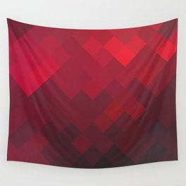 Red Impulse Wall Tapestry