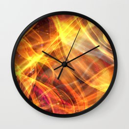 Abstract Shiny Night Lights 17 Wall Clock