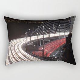 San Francisco Bay Bridge opening Rectangular Pillow