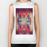 mandala Biker Tanks featuring Mandala by Aaron Carberry