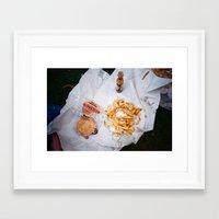 pie Framed Art Prints featuring Pie by Mina Saleeb