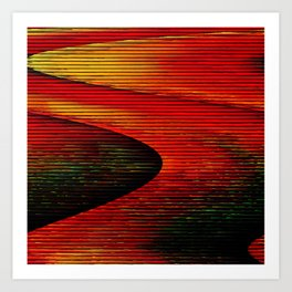 Abstract: travel to Mars Art Print