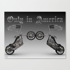 Only in America Canvas Print