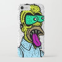 homer iPhone & iPod Cases featuring HOMER GRIMMSON.  (THE GRIMMSONS). by Dave Bell