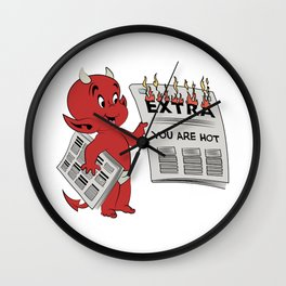 Extra Extra Read All About It  Wall Clock