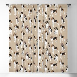 Treeing Walker Coonhounds on Tan Blackout Curtain
