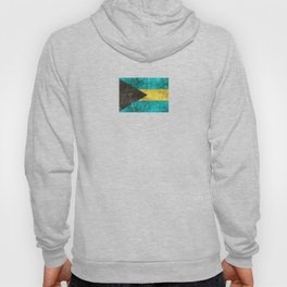 Vintage Aged and Scratched Bahamas Flag Hoody