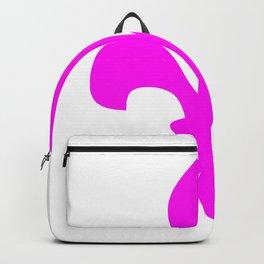 Fleur de Lis (Magenta & White) Backpack