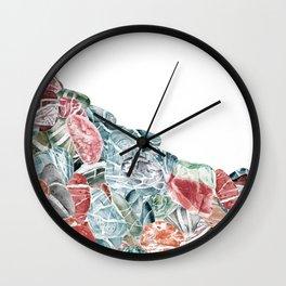 Coral Sea Pebbles Wall Clock