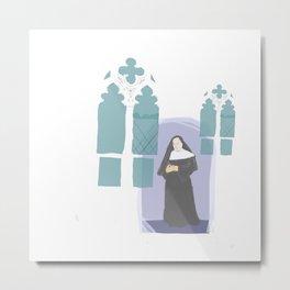 Nun's Windows Metal Print