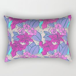 Pink Lilies and Orchids Rectangular Pillow